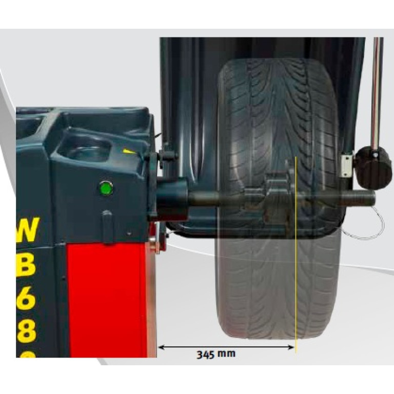 M&B Engineering 100% Made in Italy WB680 balancer with laser and LED