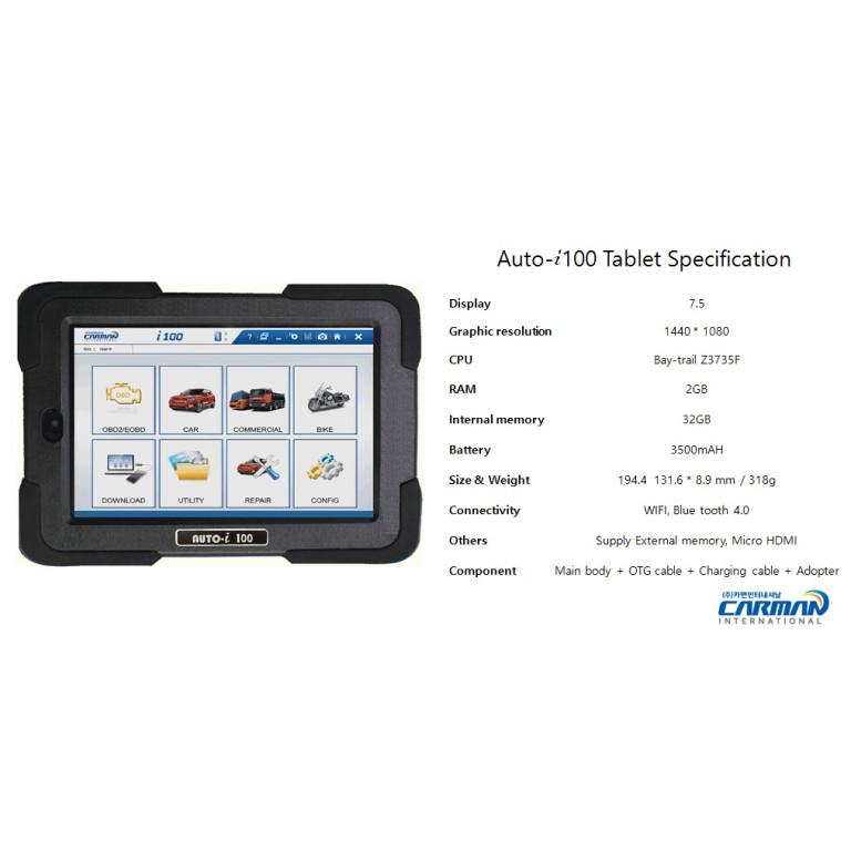 Carman i100 Tablet Wireless Diagnostic Scanner