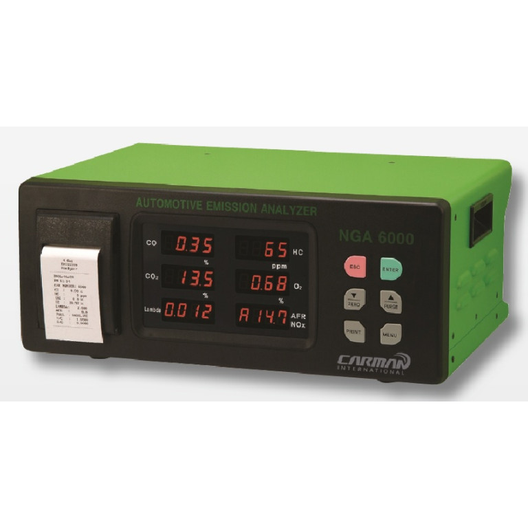 Carman NGA6000 Portable 4 Gas Gas Analyzer with Printer built-in (Made in Korea)