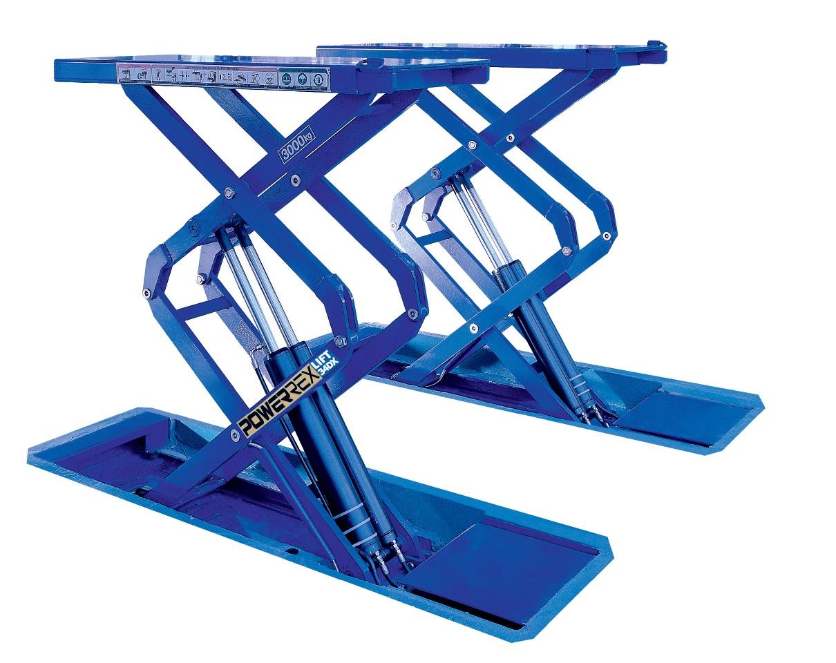 Powerrex SL34DX 3 3 Ton Full Rise Double Scissor Lift