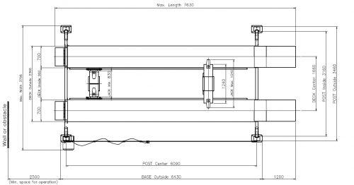 Powerrex SL8000 4 Post 8 Ton Lift with 2 Jacking Bridges (3 Ton) To Lift Wheels Off The Platform