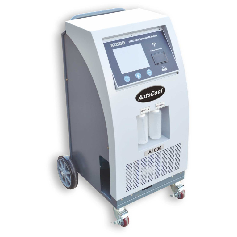 """AutoCool A1000 Full Automatic AC machine for R134A OR R1234YF, built in wifi and 8"""" touch screen"""
