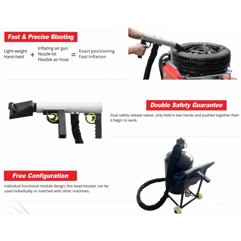 BulletPro Tyre Changer TG100 portable inflation gun with wheel