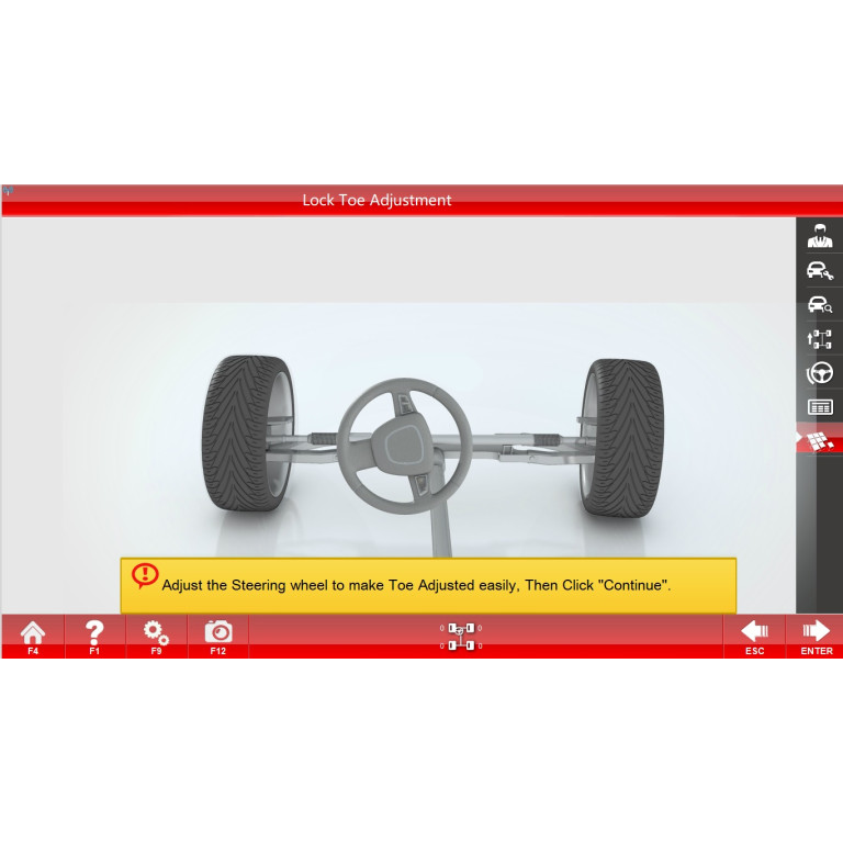 Autoalign VH7 3D wheel aligner with automatic camera beam movement. Autodata update